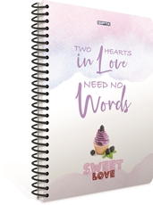 Picture of SWEET LOVE SPIRAL NOTEBOOK A4 LINES