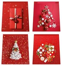 Slika od UKRASNA VREĆICA MARRY CHRISTMAS RED - VELIČINA XL
